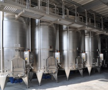 Vertical fermentation tanks