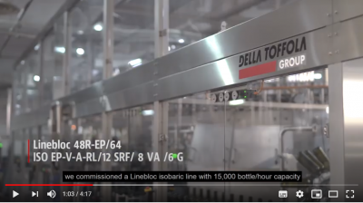 Video of our isobaric bottling machine with electro-pneumatic control for wine